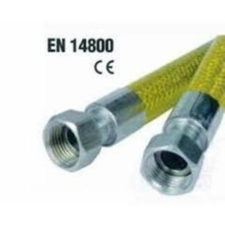 TUBO GAS FF 1/2 CM 150 NORMA EN14800