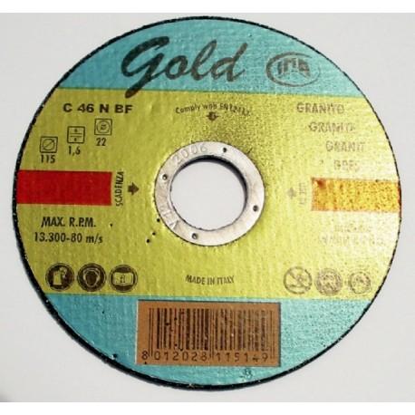 DISCO TAGLIO GRES PORCELLANATO GOLD 115X1.6X22