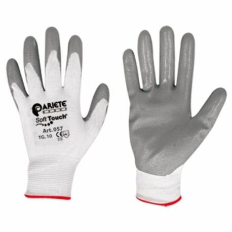 GLOVES SOFT TOUCH TG 10 GREY NITRILE