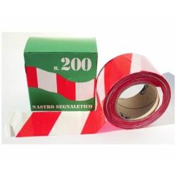 Nastro Segnalet-mt.200 Bian/rosso