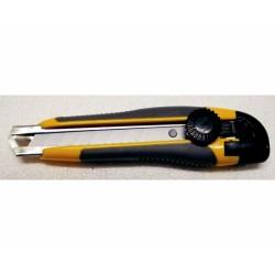 Cutter Con Strutt.bicomp.giallo 18mm Bloccaggio Lama A Rotella
