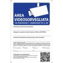 Segnale Attenz.area Sottoposta A Videosorveglianza 30x20