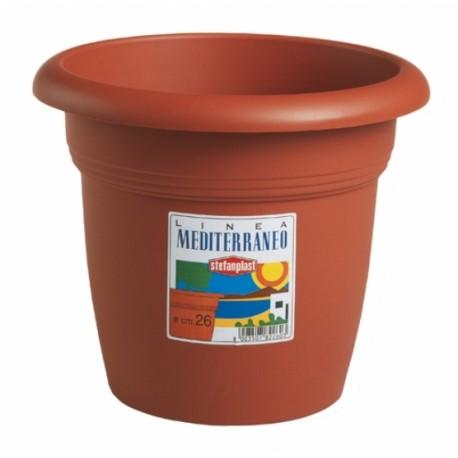 Vaso Tondo Mediterraneo D 30 Colore Cotto
