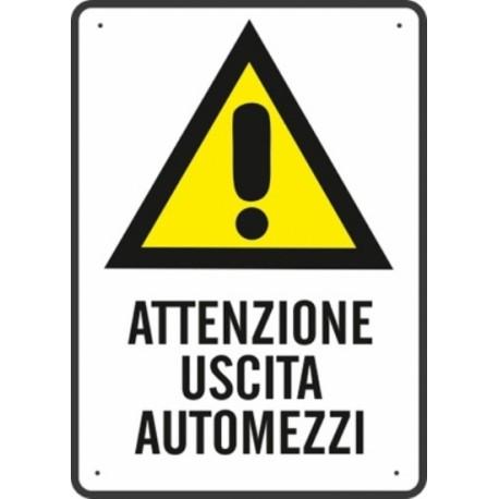 SEGNALE ATTENZIONE USCITA AUTOMEZZI 43X68