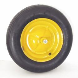 Ruota Carriola Pneumatica 2pr Con Asse Corto (11,50)+boccola+lisc.