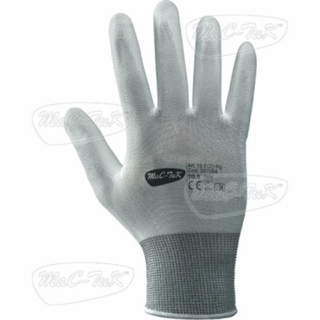 Gloves White Polyurethane Tg 10
