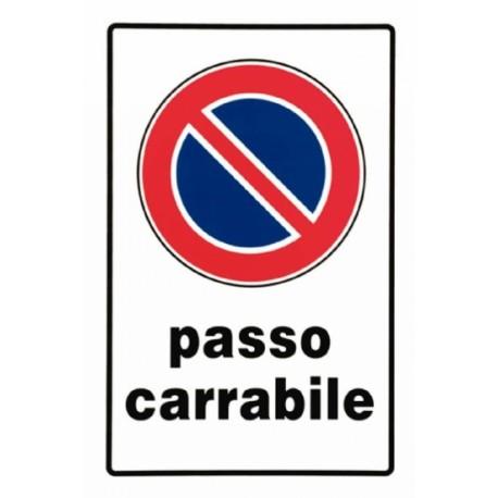 SEGNALE PASSO CARRABILE PLASTICA CM 30X20