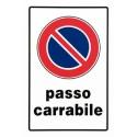 Segnale Passo Carrab.plast.cm.30x20