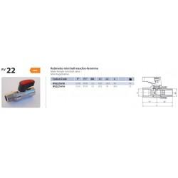 Rubinetto Miniball M F 1/4 Rosso