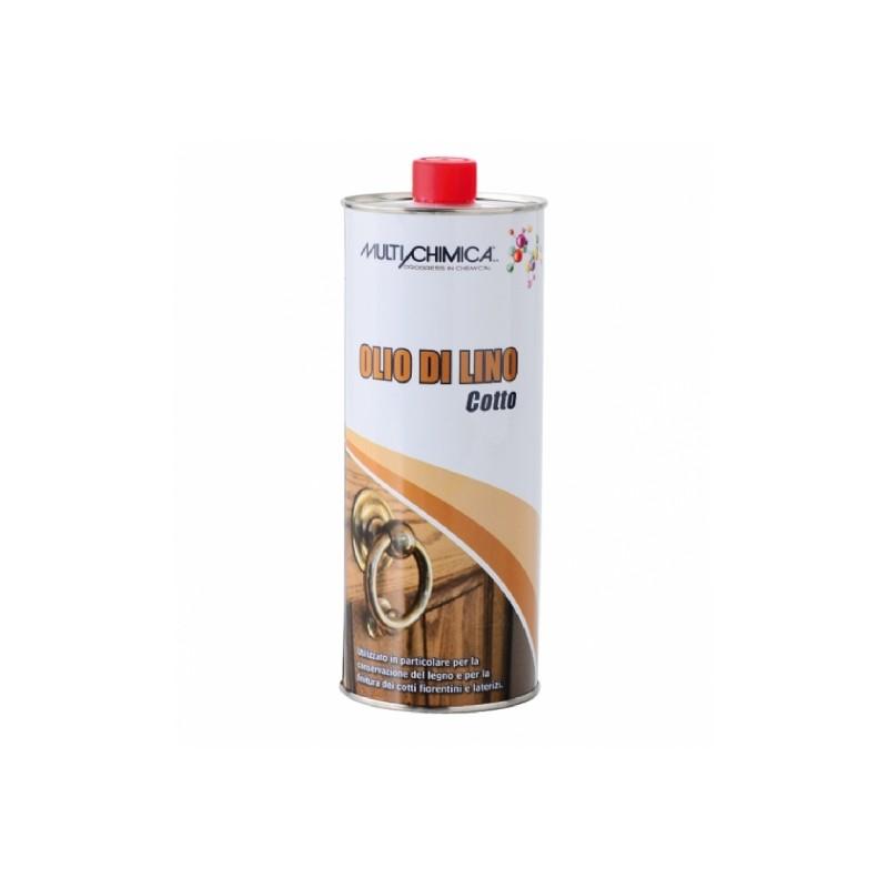 miglior prezzo olio di lino cotto lt.1 multichimica