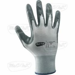 Gloves, Nbr Grey Tg 9 Polyester Nitrile