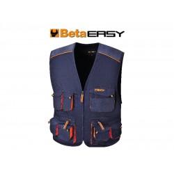 Gilet Easy Twill 180gr Blue Tg.s
