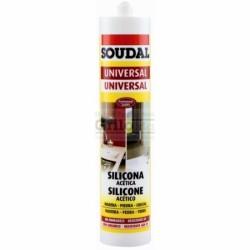 Silicone Soudal Bianco Acetic.ml.280 Resistente Alla Muffa