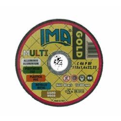 Disco T.univers.gold 115x1,6x22 Inox Allumin.-plastica-metallo-legno