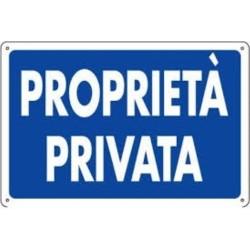 Segnale Proprieta' Privata Cm.30x20
