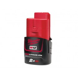 BATTERIA MILWAUKEE M12B2 RED LITHIUM 2 AH