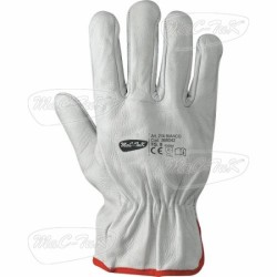Gloves Leather Bovi White Tg 11