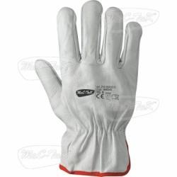 Gloves Leather Bovi White Tg 11