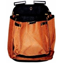 Borsa Carp. 2 Tasche Tessuto Canavas Colore Marrone