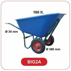 Carriola Vasca In Plastica Lt 160 2 Ruote
