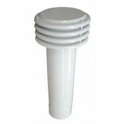 Esalatore Lamellare D.130 Bianco Base Circolare A Incastro (maschio)