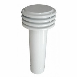 Esalatore Lamellare D.150 Bianco Base Circolare A Incastro (maschio)