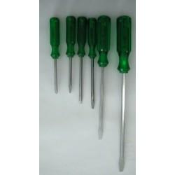 Cacciaviti Cf.6 Pz.m/verde C/battent