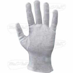 Gloves White Cotton Sewn Tg 9