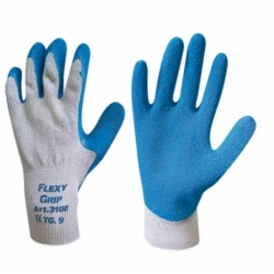 Gloves Flexi Grip Cotton Latex Tg 9