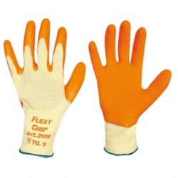 Gloves Flexi Grip Cotton Latex Tg 10