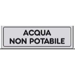 Segnale Adesivo Cm.15x5 Acqua Non Potabile