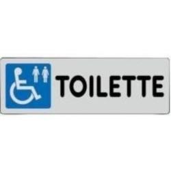 Segnale Adesivo Cm.15x5 Toilette Per Disabili (m+f)