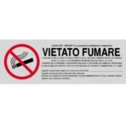 Segnale Adesivo Cm.15x5 Vietato Fum.