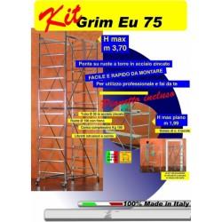 Ponteggio Grim Eu 75x165 Mt.3,70 Num.1 Base+2 Alzate A Torre+1 P.lav.