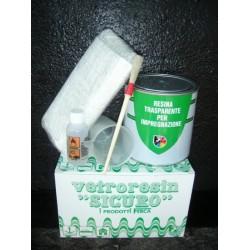 Kit Vetroresina Sicuro Ml.750 Ferca Resina Trasp+fibror+bicch.+penn+ind.
