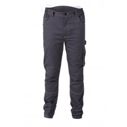 PANTALONI MULTITASCHE STRETCH GREY TG.M