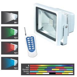 Proiettore Led A Colori Con Telecomando 20 W