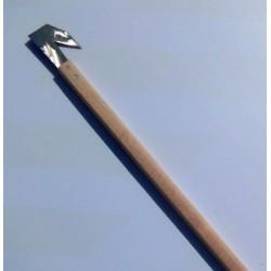 Roncola C/manico Legno - Ulivo Cm.98 - Svettatoio Angolo Acuto