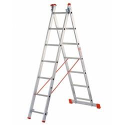 Scala Doppia H 228-371 2x8 Alluminio
