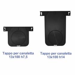 TAPPO PER CANALETTA SENZA TOP 13X100 H 7.5