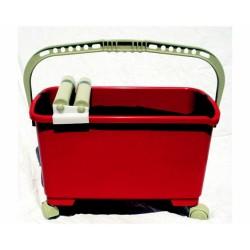 Vaschetta Eco Con 2 Rulli E 4 Ruote Per La Pulizia Di Pavimenti E Rivestimenti