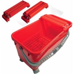 Vaschetta Eco Con 3 Rulli E 4 Ruote Per La Pulizia Di Pavimenti E Rivestimenti