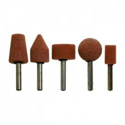 Serie Mole Abrasive 5 Pezzi Gambo Diam Mm 6
