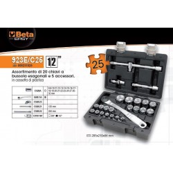 "Valigetta Set Bussole 1/2"" Beta Easy 923e/c25"