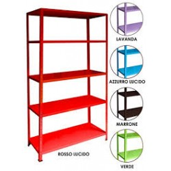 Kit Scaffale Inka 40x100 Rosso Lucido