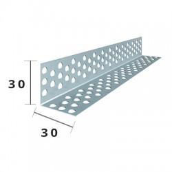 Paraspigolo Forato Zincato 30x30 5/10 M 3