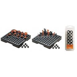 PALLET PLASTICA NERO 320X320X45 CON 100 FORI 22MM