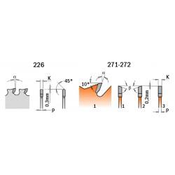 LAMA X MATERIALI FERROSI-PVC HW 136.5X1.5-1.2X10 Z