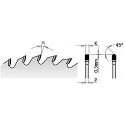 Lama Dente Trapezoidale Dp 300x3.2-2.2x30 Z96 Tcg