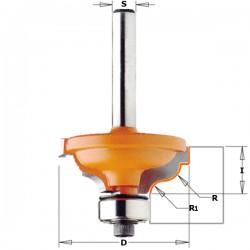 Fresa Profilata Con Cuscinetto Hm S-6 R-3.6-4.8